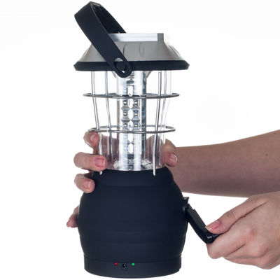 Whetstone™ 36-LED Solar- and Crank-Powered Camping Lantern