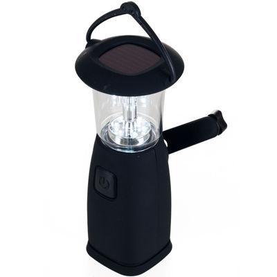 Whetstone™ 6-LED Solar- and Crank-Powered Camping Lantern