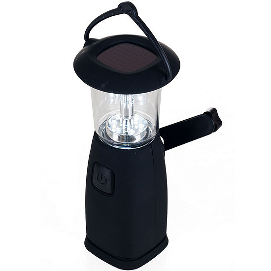 Whetstone™ 6-LED Solar- and Crank-Powered Camping Lantern