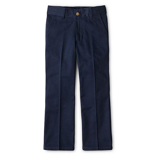 Izod Boys Adjustable Waist Reinforced Knee Flat Front Pants Big Kid