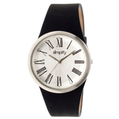Simplify Mens Black Strap Watch-Sim2001
