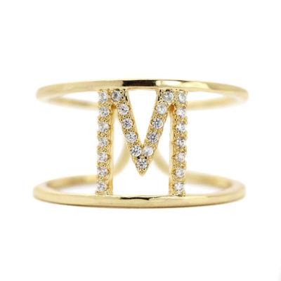 Sparkle Allure Adjustable Gold M Band