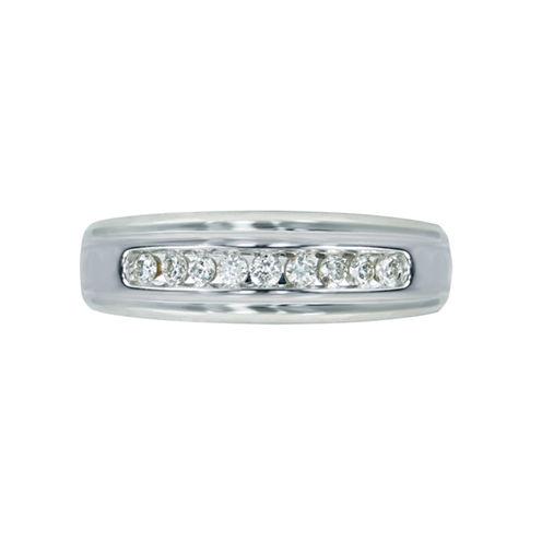 Mens 1/4 CT. T.W. Genuine White Diamond 10K Gold Wedding Band