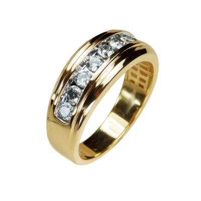 TW Genuine White Diamond 10K Gold Wedding Band
