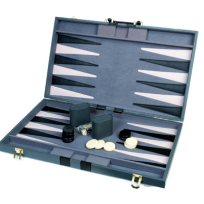 18 Attache Tournament Backgammon--Gray