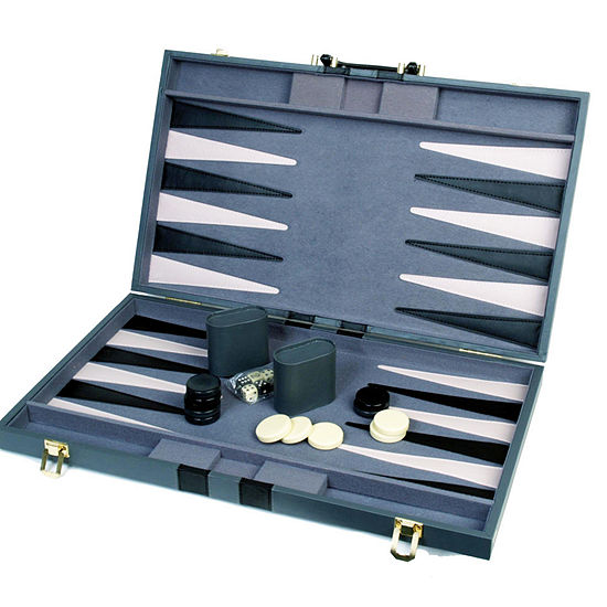 18 Attache Tournament Backgammon--Gray