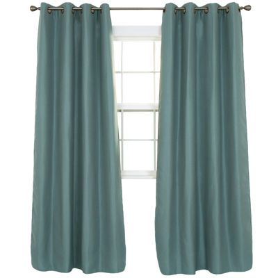 Cambridge Home Linen Look Blackout Grommet-Top Curtain Panel