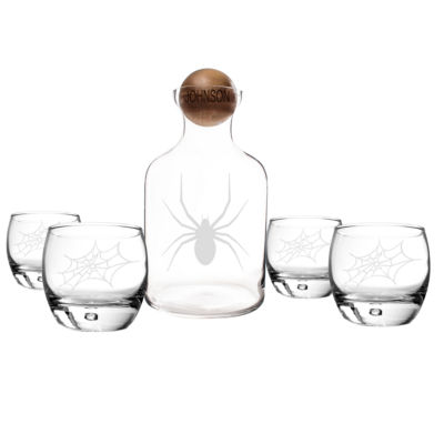 Cathy's Concepts Personalized Toxic Spider Glass Decanter Set