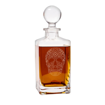 Cathy'S Concepts Sugar Skull 32-Oz. Square Whiskey Decanter