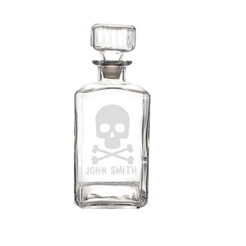 Cathy'S Concepts Personalized Skull & Crossbones 34-Oz. Glass Decanter