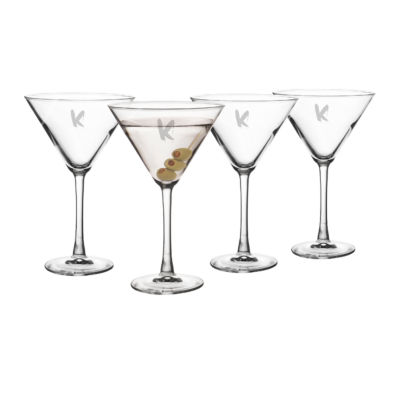 Cathy'S Concepts Set Of 4 Personalized Spooky 10-Oz. Martini Glasses