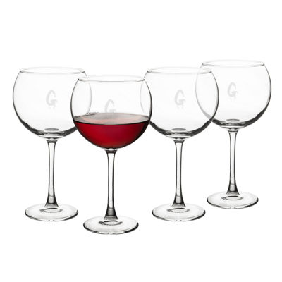 Cathy's Concepts Set Of 4 Personalized Spooky 19-oz. Red Wine Glasses