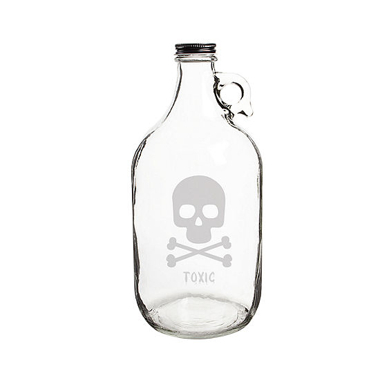 Cathy'S Concepts Personalized Skull & Crossbones 64-Oz. Craft Beer Growler