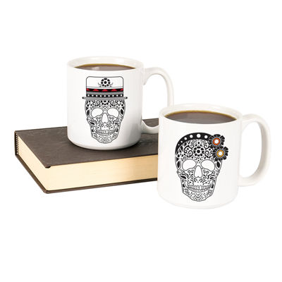 Cathy'S Concepts His & Hers Sugar Skull Large 20-Oz. Coffee Mug Set