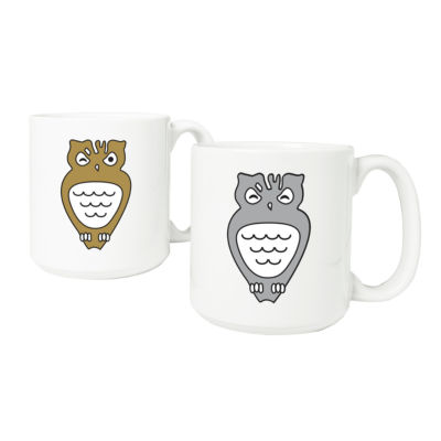Cathy's Concepts Set of 2 Owl 20-oz. Large Coffee Mugs