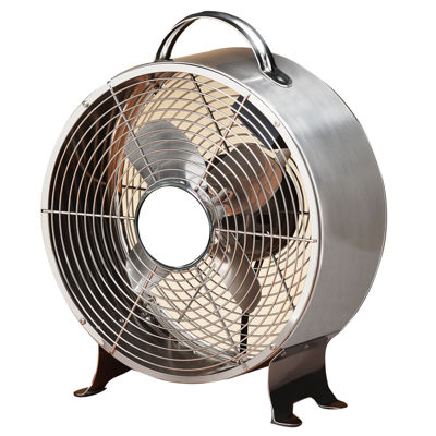 Deco Breeze® Stainless Steel Retro Metal Fan
