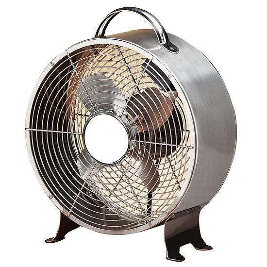 Deco Breeze® Stainless Steel Retro Metal Fan