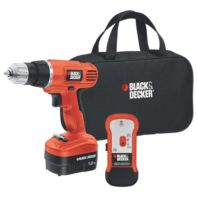 Black & Decker 12-Volt Cordless Drill with Stud Sensor