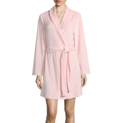 Long Sleeve Faux Velour Robe