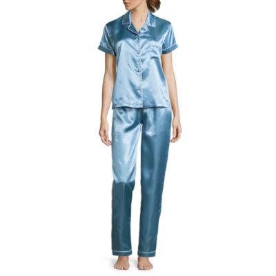 2-pc. Satin Pant Pajama Set