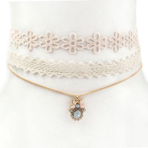 Carole Womens 3-pc. Clear Necklace Set