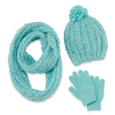 Total Girl 3-pc. Cold Weather Set-Big Kid Girls 7-16