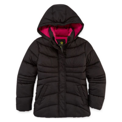 Xersion Heavyweight Pattern Puffer Jacket - Girls-Big Kid 7-16