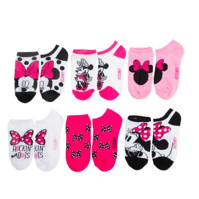 Disney Minnie Mouse 5-pk. No-Show Socks - Girls