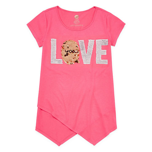 Total Girl Flip Sequin Tunic Top - Girls' 7-16 and Plus