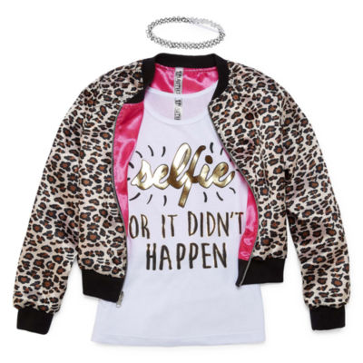 Total Girl 3-Piece Bomber Jacket Set - Girls' 7-16 and Plus
