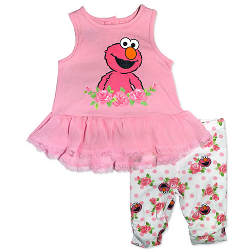 2-pc. Sesame Street Legging Set-Baby Girls
