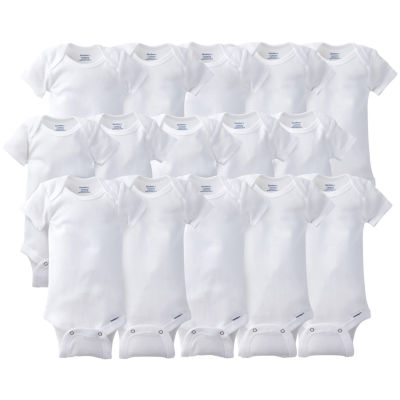 Gerber® 15 Pack White Onesies® Bodysuits Grow With Me Bundle
