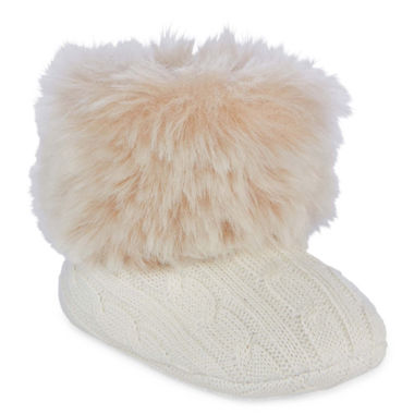 Okie Dokie Baby Girls Fur Boot Shoes- Baby