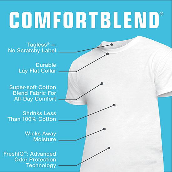 Hanes Men's ComfortBlend® FreshIQ™ Crewneck Undershirt 4-Pack