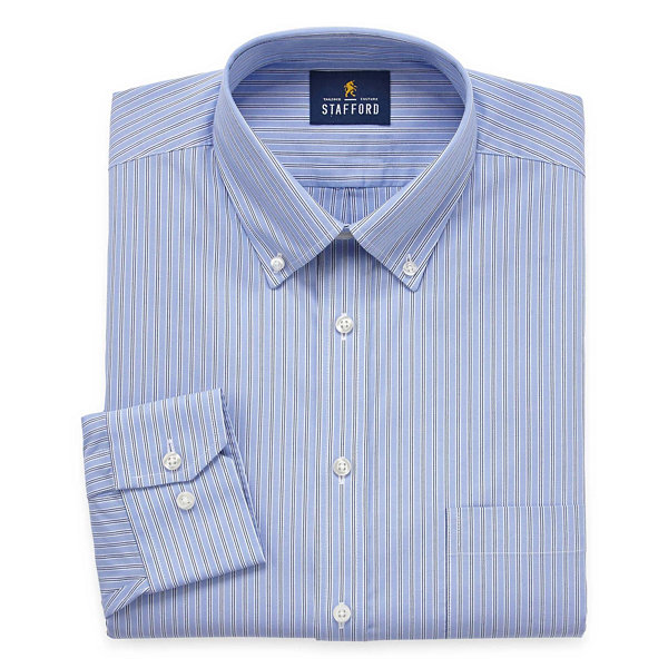 stafford executive non iron cotton pinpoint oxford long