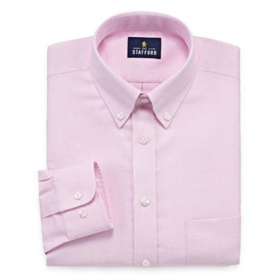 Stafford Travel Wrinkle-Free Stretch Oxford Long Sleeve Dress Shirt