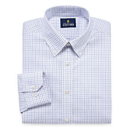 Stafford executive non iron cotton pinpoint oxford long for Where to buy stafford dress shirts