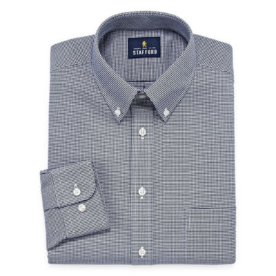 Stafford Travel Wrinkle-Free Oxford Long-Sleeve Dress Shirt - Big and Tall