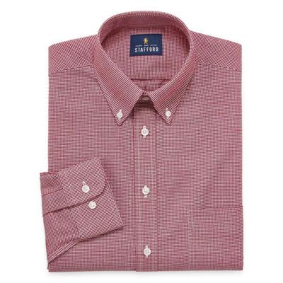 Stafford Travel Wrinkle-Free Oxford Long-Sleeve Woven Dress Shirt - Big & Tall