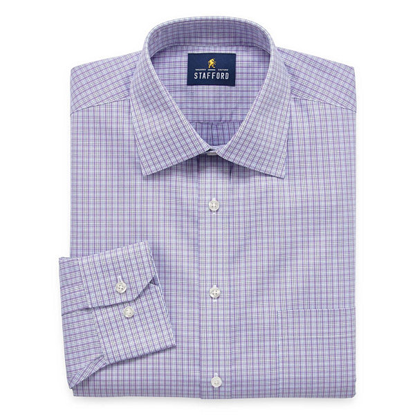 Stafford executive non iron cotton pinpoint oxford big for Stafford big and tall shirts