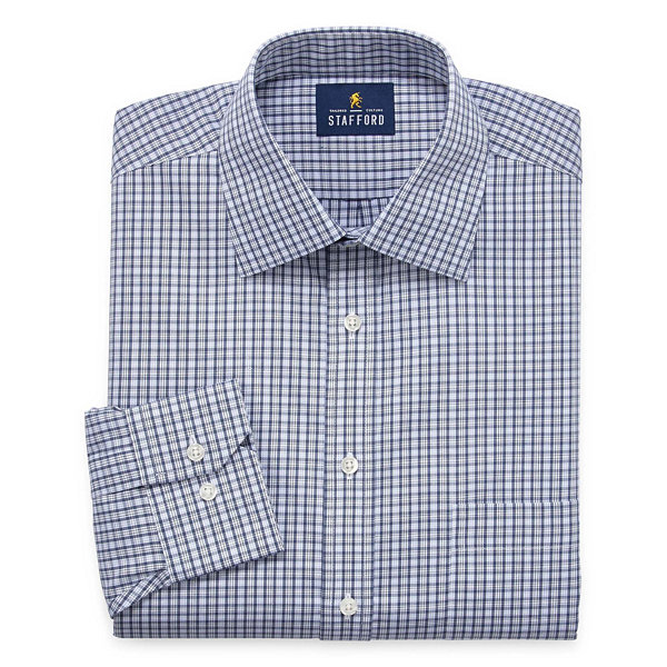 Stafford Executive Non-Iron Cotton Pinpoint Oxford - Big and Tall Long Sleeve Dress Shirt