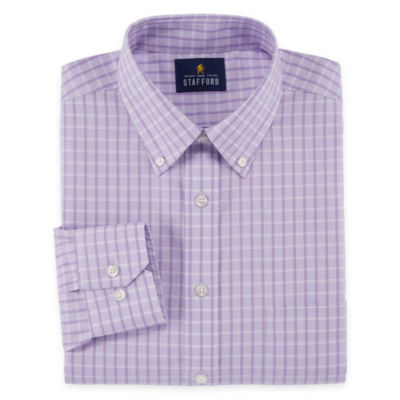 Stafford Executive Non-Iron Cotton Pinpoint Oxford - Big and X-Tall Long Sleeve Dress Shirt