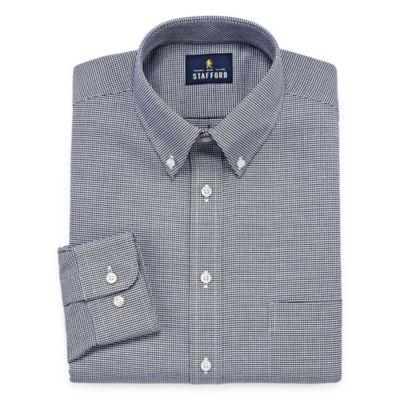 Stafford Travel Wrinkle-Free Oxford Long-Sleeve Dress Shirt - Big and Tall