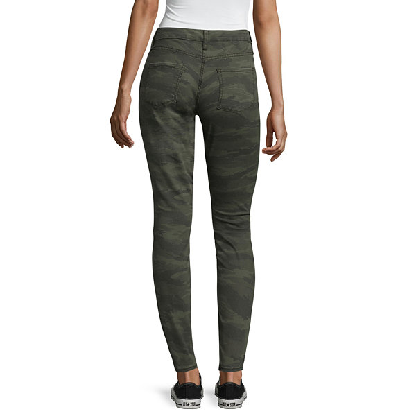 Arizona Destructed Camo Jeggings-Juniors