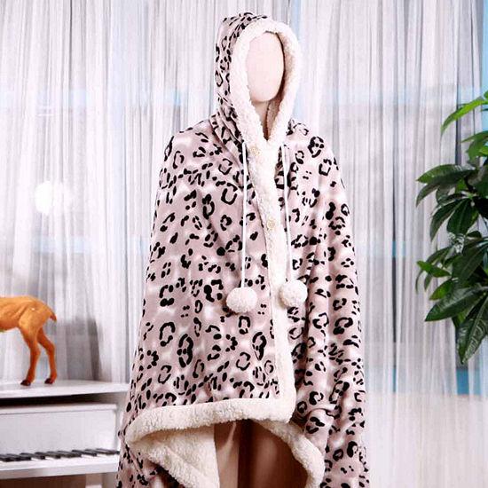 Chic Home Leopard Fleece Blanket