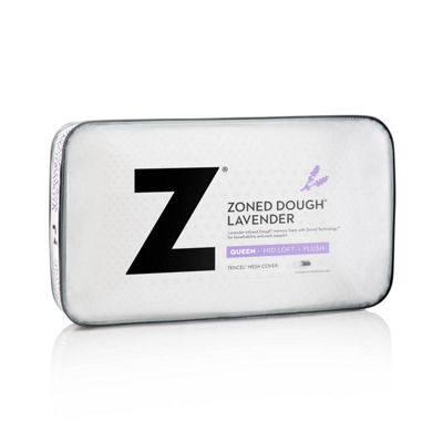 Malouf Z Zoned Dough Memory Foam Pillow Infused with Real Lavender