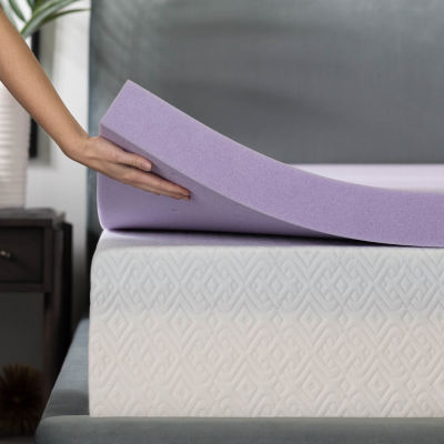 Lucid 3 Inch Lavender Infused Memory Foam Mattress Topper