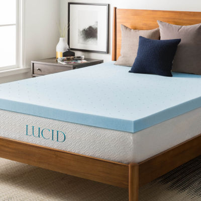 Lucid 3 Inch Gel Memory Foam Mattress Topper