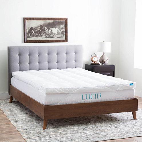 Lucid Plush Down Alternative Fiber Bed Topper