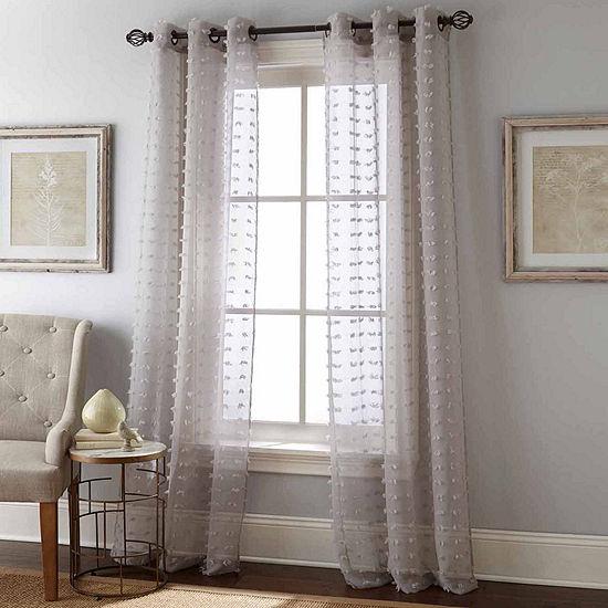Payton 2pk Grommet-Top Sheer Curtain Panel
